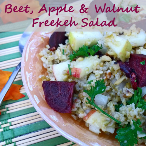 Beet, Apple, and Walnut Freekeh Salad Recipe