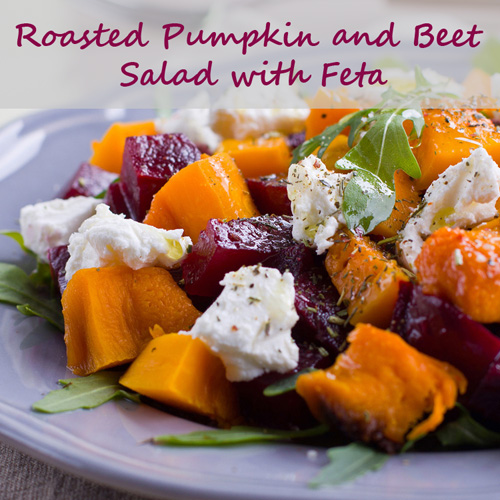 Roasted Pumpkin and Beet Salad with Feta Recipe