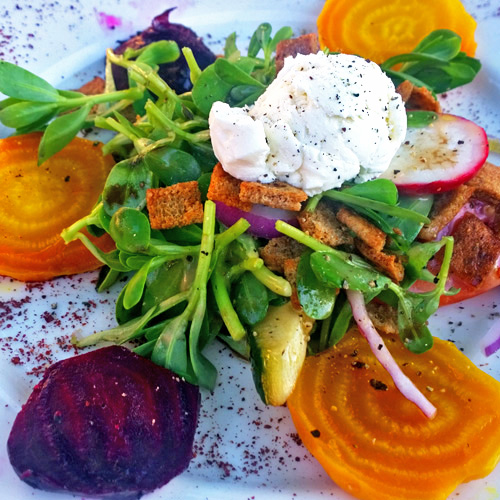 Roasted Beet Salad from At Last Café in Long Beach