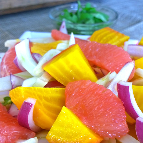 Golden Beet, Grapefruit, and Fennel Salad