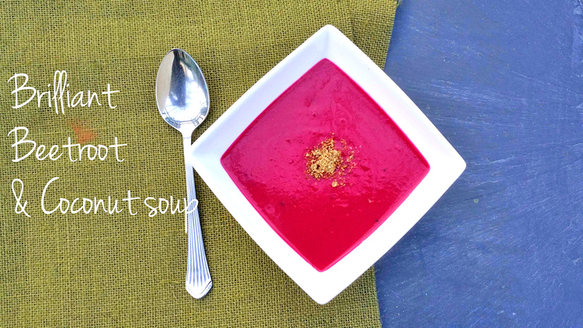 beetroot and coconut soup