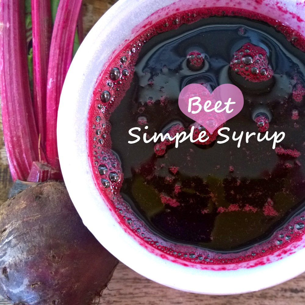 Beet Juice Simple Syrup for Cocktails and Food Coloring