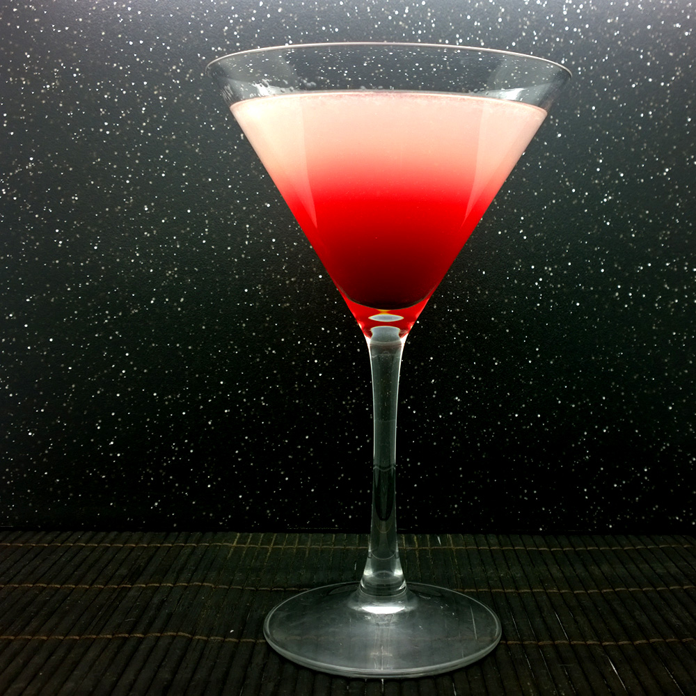 The Final Frontier Beet Tom Collins Martini