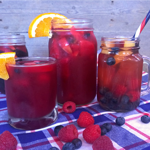 Beet Citrus and Ginger Sangria Mocktail  by  Just Beet It