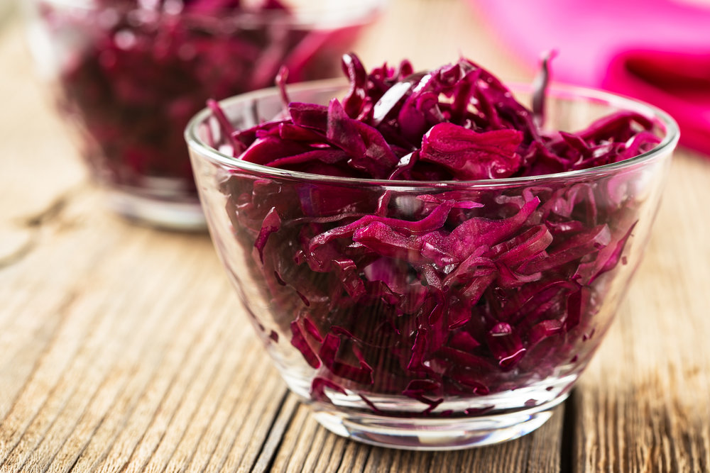 Beet Kraut with Ginger and Garlic
