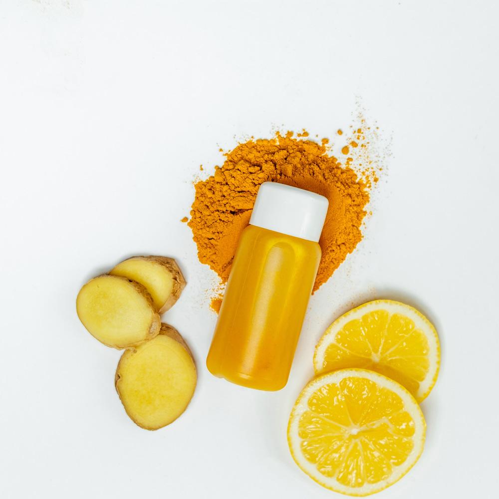 Turmeric Ginger and Lemon Wellness Tonic