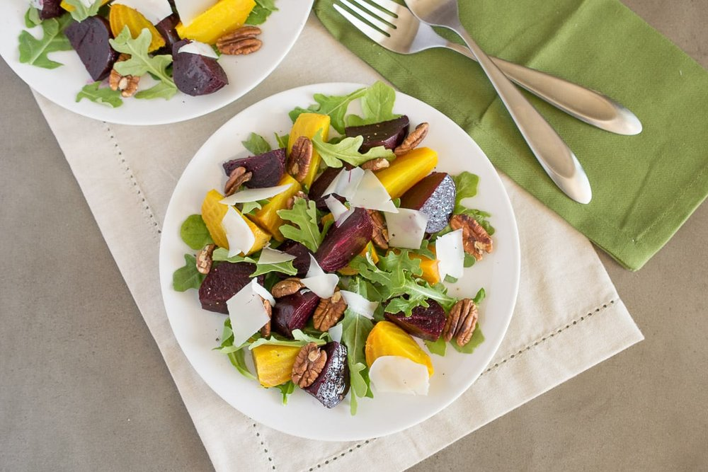 Roasted Beet Salad  by Culinary Ginger