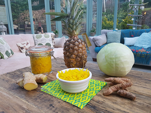 Super Boosting Pineapple Turmeric Kraut  by  Nourished by Nature