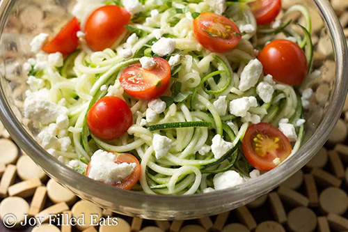 Lemon & Feta Summer Zucchini Salad  by  Joy Filled Eats