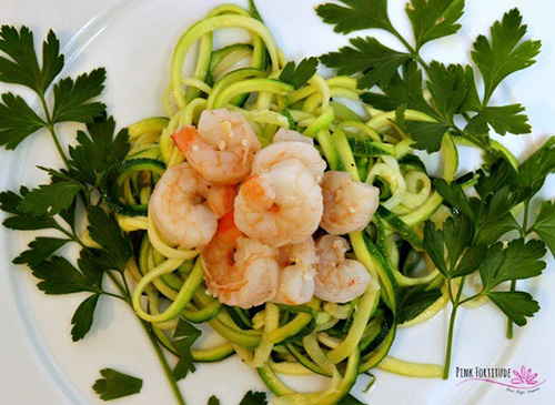 Zoodle Shrimp Scampi  by  Pink Fortitude