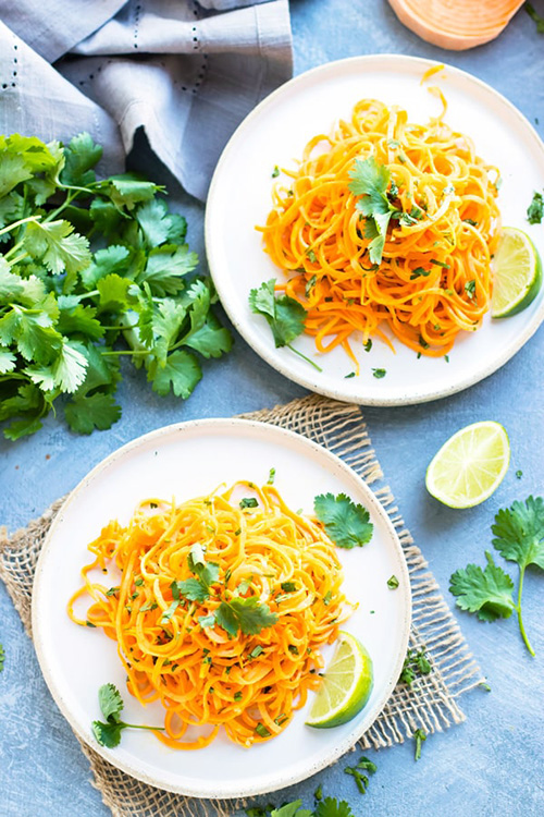 Cilantro Lime Sweet Potato Noodles  by  Evolving Table