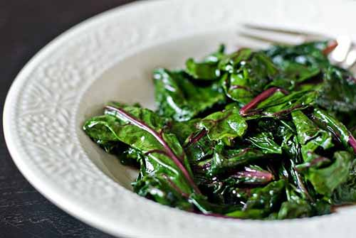 Superhero Sauteed Beet Greens  by  Just Beet It  (photo by Bless Her Heart)