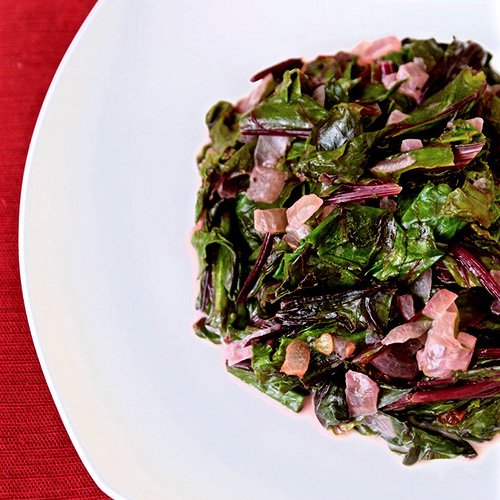 Coconut Braised Beet Greens  by  Tasting Page