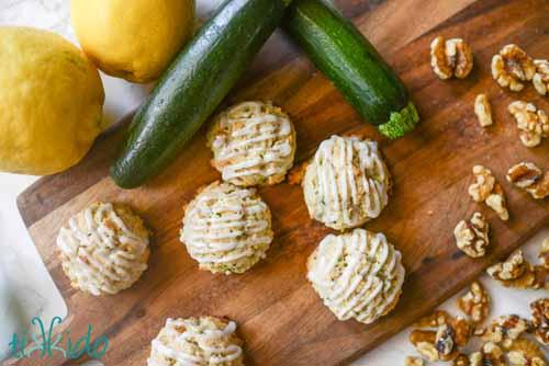 Zucchini Cookies with Lemon Glaze  by  Tikkido