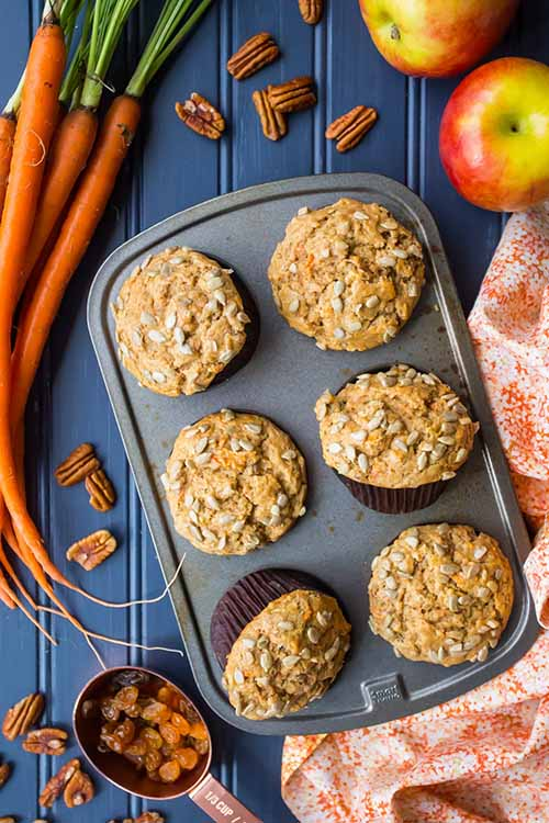 Morning Glory Muffins with Carrot and Apple  by  Baking a Moment
