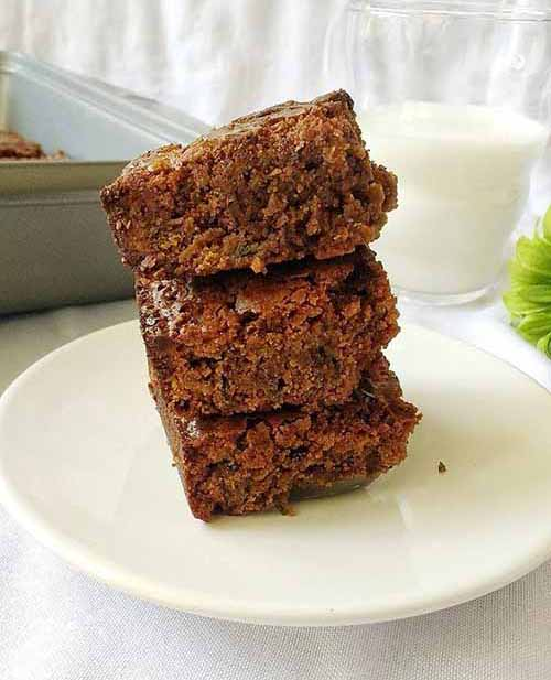 Whole Wheat Kale Brownies  by  Lathi's Kitchen
