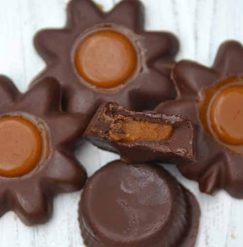 Easy Pumpkin Filled Chocolates  by  Just Take a Bite
