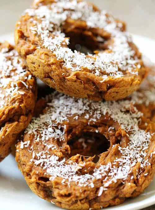 Cinnamon Sweet Potato Doughnuts (Gluten-Free, Vegan, Paleo)  by  Strength and Sunshine