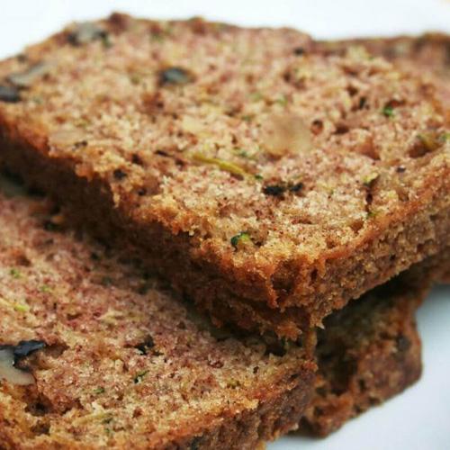 Coconut-Flour Zucchini Bread (Paleo, Gluten-Free, Vegan)  by  Small Footprint Family