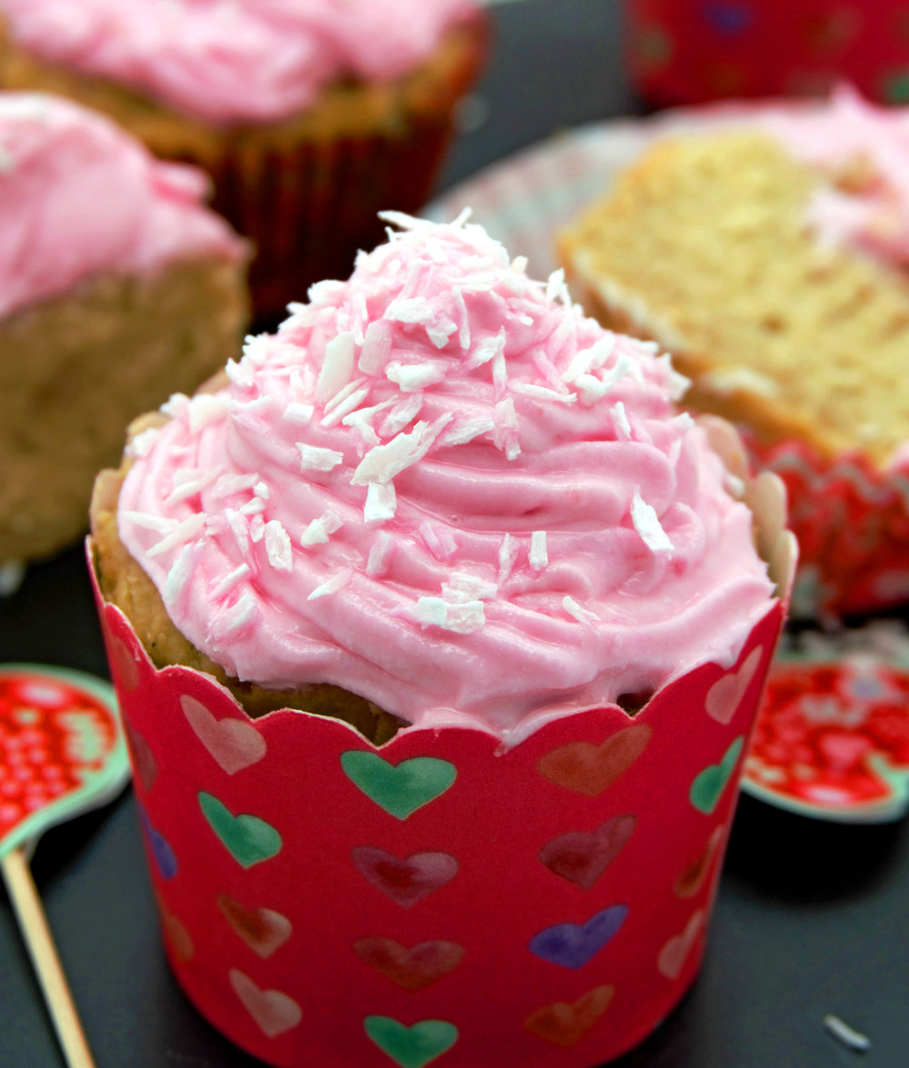 Vegan Vanilla Cupcakes with Coconut Cream Beet Dyed Frosting 20 vertical.jpg