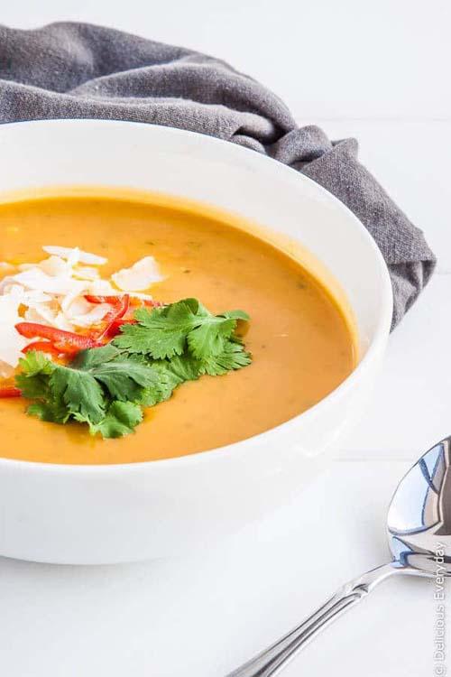 Thai Pumpkin Soup with Coconut Milk (Vegan)  by  Delicious Everyday
