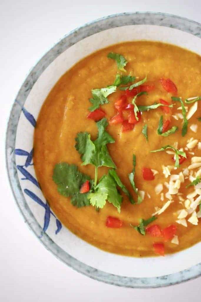 Sweet Potato Peanut Soup (Vegan & Gluten-Free)  by  Rhian's Recipes