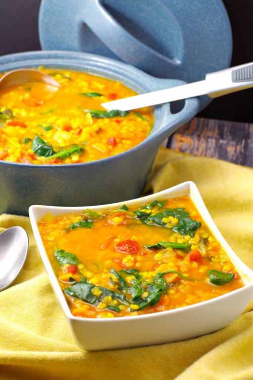 Red Lentil Spinach Soup (Weight Watchers Friendly)  by  Food Meanderings