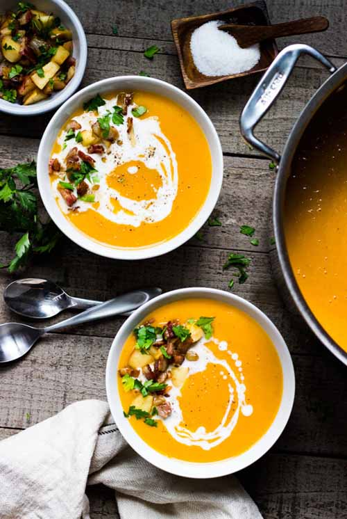 The Best Creamy Butternut Squash Soup  by  Pass Me Some Tasty