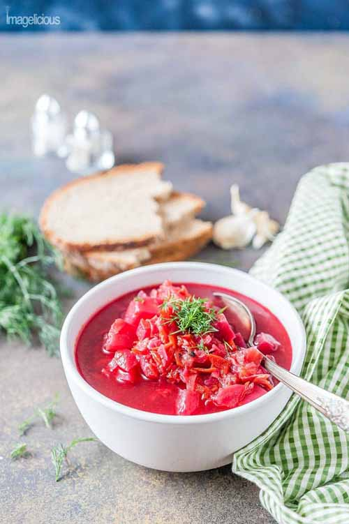 Instant Pot Borscht (Vegan and Gluten-Free)  by  Imagelicious