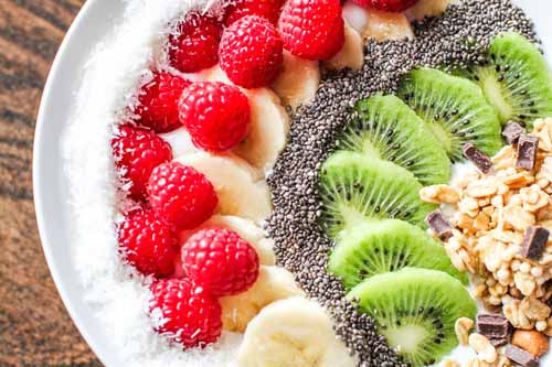 """KEFIR PROBIOTIC COCONUT BOWL     by  The Wild Gut    """"In addition to the probiotic rich kefir, we add organic shredded coconut for some healthy fat and an assortment of fruits and seeds."""""""