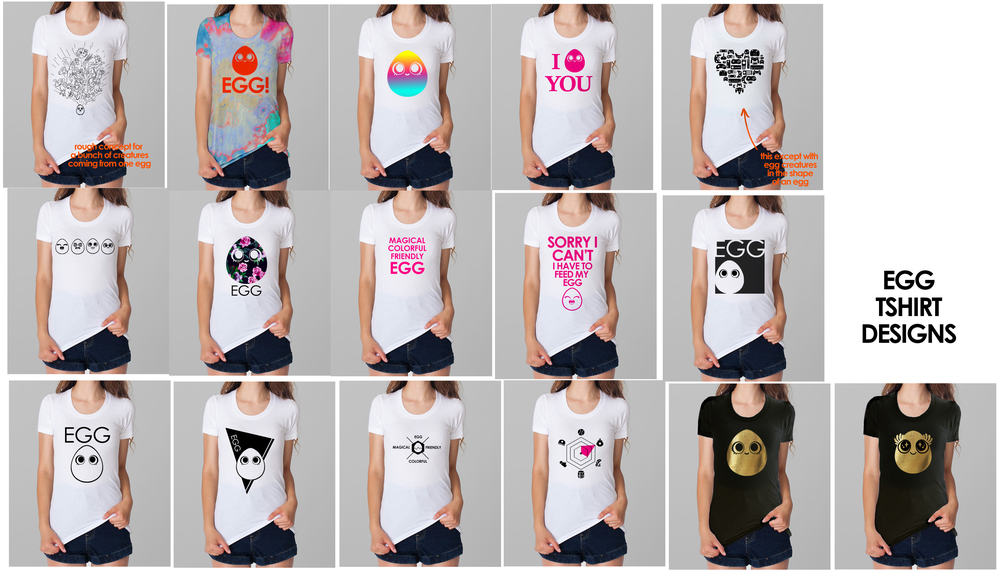 So many different tee ideas!