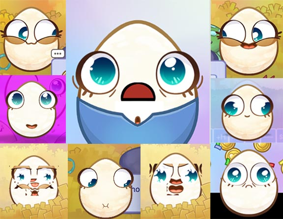 The many faces of the Common Egg.