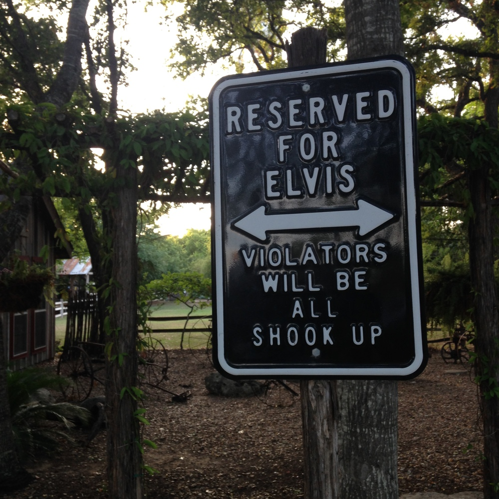 Plus, some Elvis humor in the parking lot.