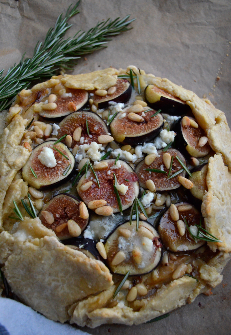 Rosemary, Goat Cheese and Fig Galette - Fern & Fog