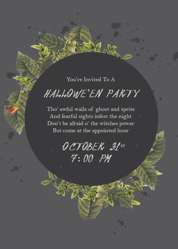 Halloween Invitation - Fern & Fog