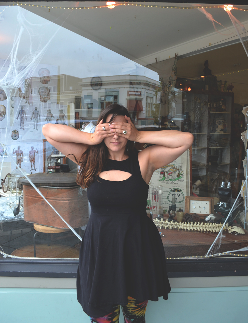 Kassie is both the Manager and the artist that constructs the best vintage window displays at Daisy Drygoods.