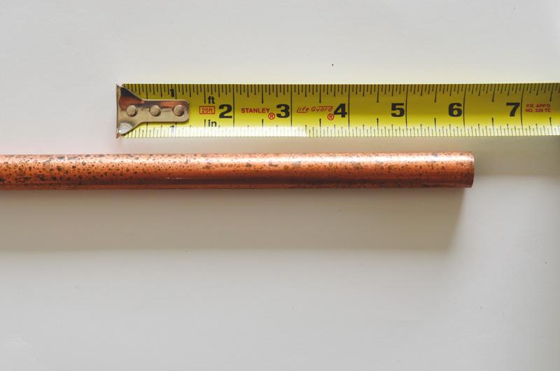 DIY Copper Candelabra