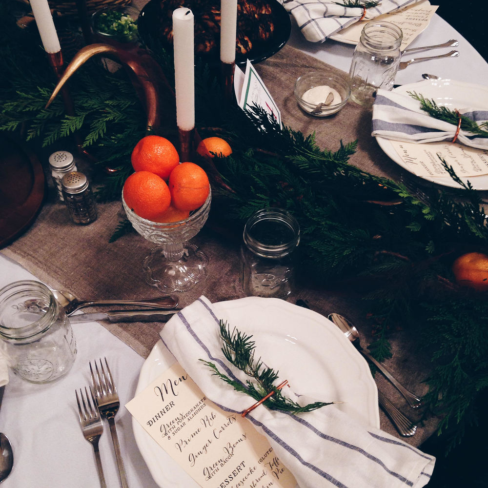 fern and fog christmas table