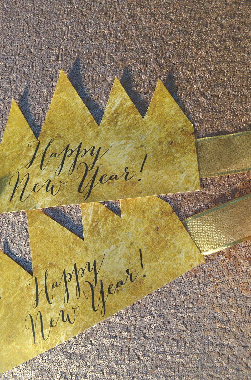 NYE party crowns - free printable