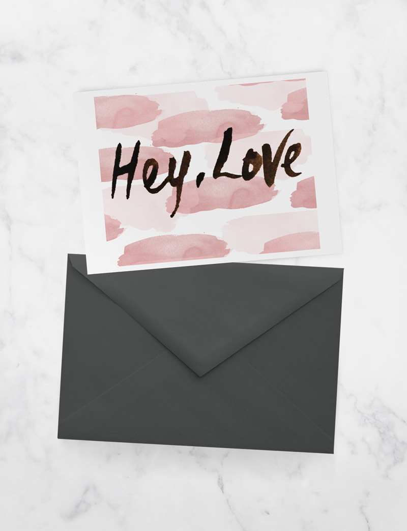 hey, love - valentines printable