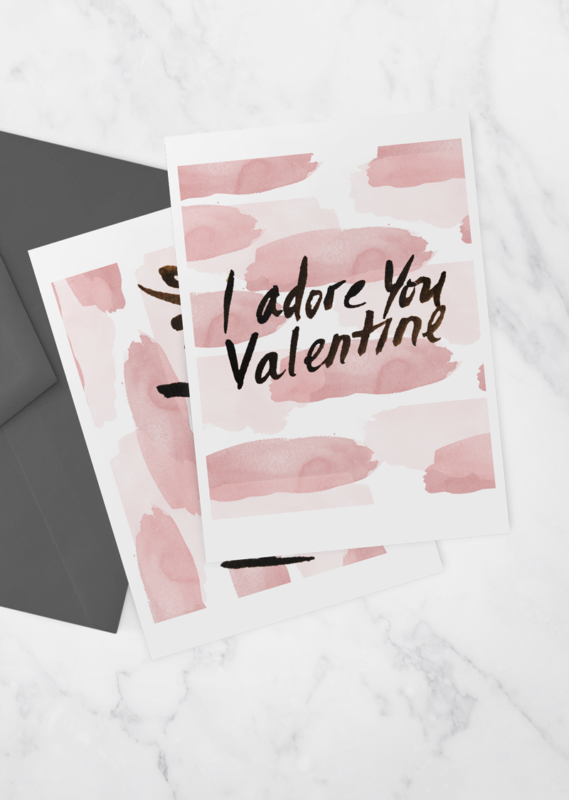 adore - valentines printable