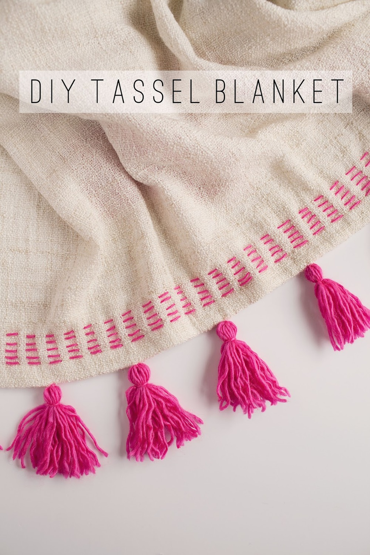 diy tassel blanket