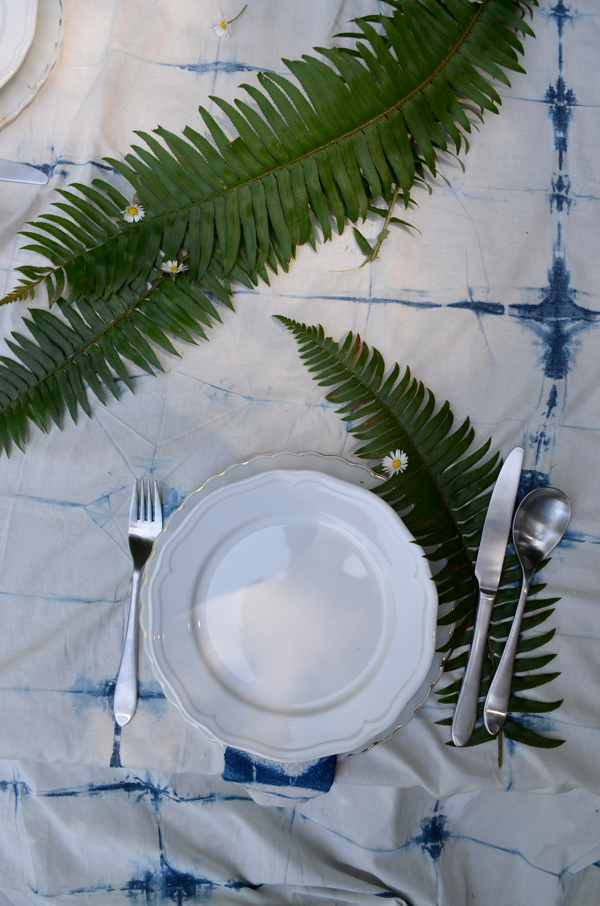 Shibori Tablecloth DIY