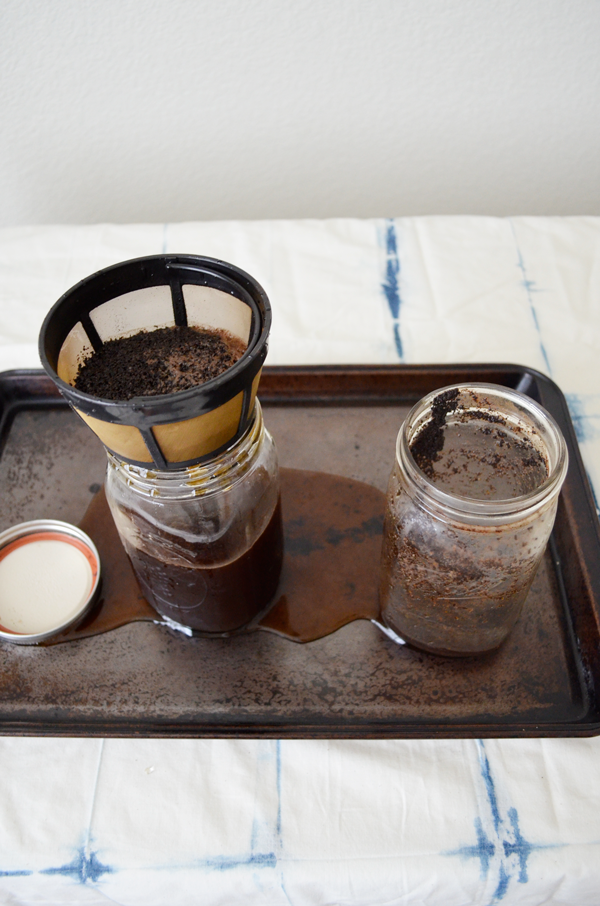 Cold Brewed Iced Coffee Recipe + mess making