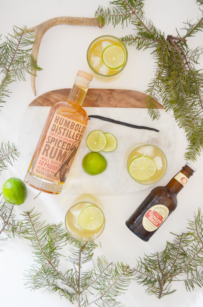 Holiday Cocktail: Spiced Rum Light & Stormy