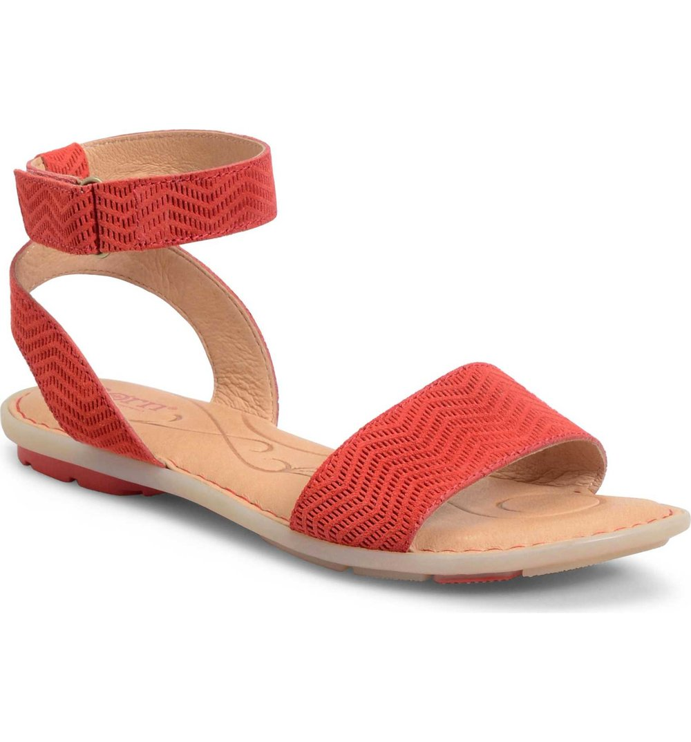 54332b596c YangC sandal: http://shop.nordstrom.com/s/born-tegal-sandal-women/4507416?origin=category-personalizedsort&fashioncolor=RED%20LEATHER  Red leather TA ; Brown ...