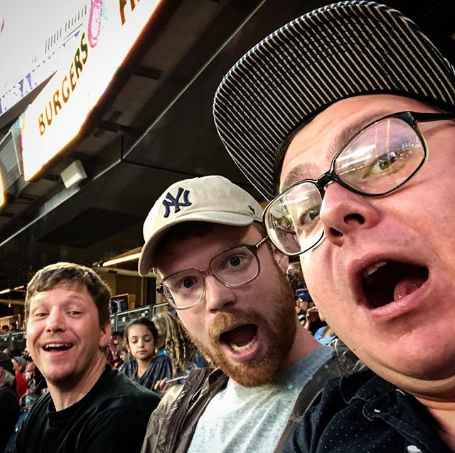 Myself, @disposable_nick, and @aaron.suds.black watching the #yankees and #johnnylasagna take on the entire city of Tampa.  Thanks @dempsey.rice