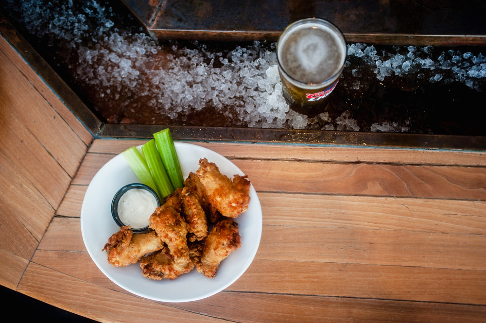 Wings and Pint on Ice.... perfection