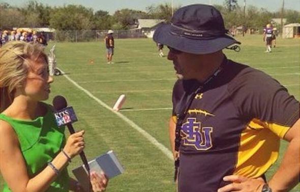 HSU COACH BURLESON TALKS WITH KTXS ABOUT COWBOYS FOOTBALL