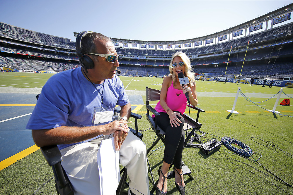 San Diego pregame show rehearsal - Photo by James Smith